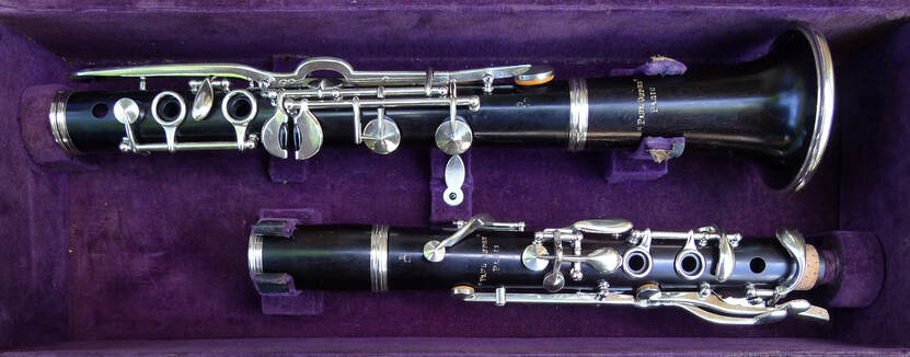Vintage Paul Dupre Bb LP Albert Clarinet
